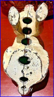 Original Antique Vintage Wing Hubley Cast Iron Bunny Rabbit Penny / Still Bank