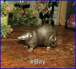Original Antique Vtg Arcade Cast Iron Possum Still Opossum Penny Bank Scares