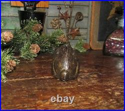 Original Antique Vtg Williams Cast Iron Rabbit Lying Down Bunny Bank Scarce NR