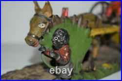 Original Bad Accident Cast Iron Mechanical Bank, Great Paint/works Circa 1890