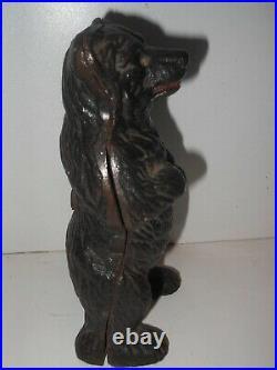 Original Black Forest Bear Cast Iron Money bank coin safe still c1890