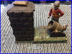 Original Cast Iron ARTILLERY Mechanical Bank Ca. 1892