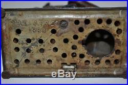 Original Cast Iron Bulldog Mechanical Bank, Nice Paint, Works, No Reserve