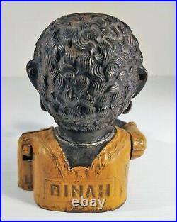 Original Cast Iron Dinah Mechanical Bank great Original paint