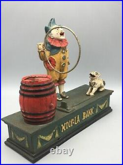 Original Cast Iron Hoop-la Mechanical Bank
