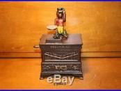 Original Cast Iron Medium Organ Mechanical Bank by Kyser & Rex c. 1881 with Key
