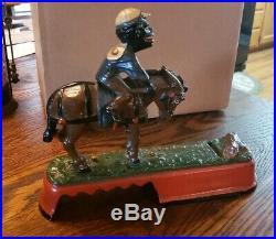 Original Cast Iron SPISE A MULE Jockey Over Mechanical Bank J & E Stevens 1879
