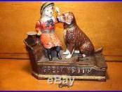 Original Cast Iron Speaking Dog Mechanical Bank by Shepard Hardware c. 1885
