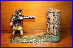 Original Cast Iron William Tell Mechanical Bank by J & E Stevens cir 1896