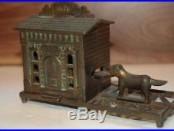 Original Gem Cast Iron Mechanical Bank, Near Mint Condition & No Reserve Look