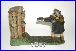 Original J & E Stevens Cast Iron William Tell Mechanical Bank -Nice! DAKOTApaul
