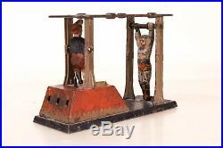 Original J&E Stevens Co Cast Iron Acrobat Mechanical Bank 1880s Extremely Rare