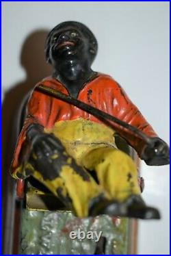 Original J&e Stevens Cast Iron Spise A Mule Mechanical Bank Exceptional Paint