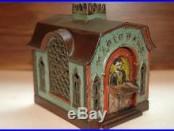 Original Magic Cast Iron Mechanical Bank, Scarce Colors, Working, No Reserve