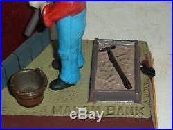 Original Mason Mechanical Bank 1887 Cast Iron