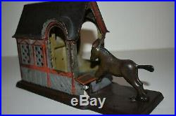 Original Mule Entering Barn Cast Iron Mechanical Bank, Pat. 1880, No Reserve