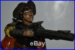 Original New Creedmore Cast Iron Mechanical Bank, Excellent Plus, No Reserve