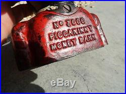 Original Piccaninny Money Bank Black Americana RARE Jolly Back Cast Iron Bank