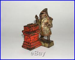 Original Santa at Chimney Cast Iron Mechanical Bank NO RESERVE (DAKOTApaul)
