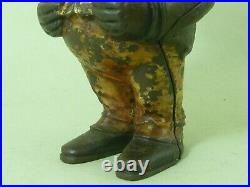 Original Standing Jolly Bank English Cast Iron Painted Antique