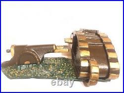 Original Starkie's Tank And Cannon Cast Iron Mechanical Bank c. 1920's