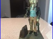 Original uncle sam cast iron mechanical bank