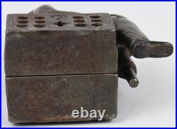 PEG LEG BEGGAR CAST IRON MECHANICAL BANK Rare 1880 H L Judd Mfg Co Antique Toy