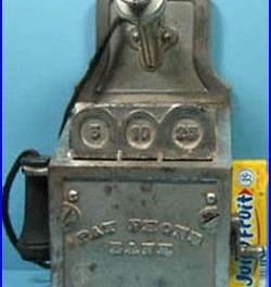 Price Cut, Orig  Old 1926 Pay Telephone Phone Bank Semi-mech