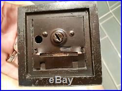 RARE Antique Cast Iron Bank 1924 L V Aronson Chelsea Exchange NYC Baby Coin