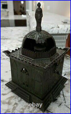 RARE Antique Cast Iron Mosque Bank by H. L. Judd c1880