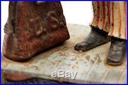 RARE Antique Vintage Uncle Sam Coin Bank Cast Iron ORIGINAL