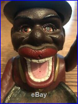 RARE BLACK AMERICANA, John Harper Dated 1939, Large Cast Iron Nut Cracker