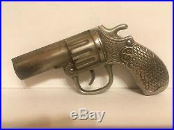 RARE Cast Iron Mechanical Pistol Bank Elliot Dime Pistol Bank 1909