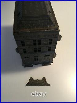RARE HUGE 1891 Traders Bank Toronto Cast Iron Souvenir Building Bank