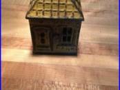 RARE J & E Stevens cast iron painted Home Savings building bank circa. 1891