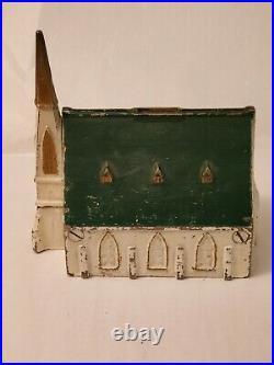 RARE New England Church Cast Iron Bank 7 1/2