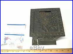 RARE Old antique/vintage cast iron Japanese Safe still bank Keyser & Rex 1882