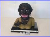 RARE! Vintage Cast Iron Dinah Black Americana Working Mechanical Bank