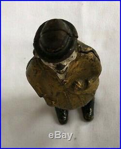 RARE c. 1905 Ober Mfg The Capitalist Cast Iron Bank Exc. Original Condition