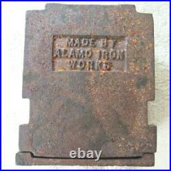 Rare 1930s ALAMO IRON WORKS Original Cast Iron Bank SAN ANTONIO TEXAS Scarce