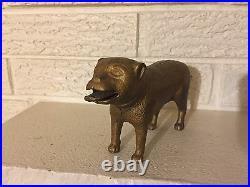Rare Antique Cast Iron BULL DOG STANDING Mechanical Bank by H. L. Judd ca. 1887