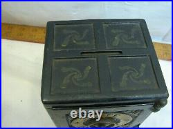 Rare Antique Henry Hart Cast Iron Toy Safe Deposit Still Dime Bank Toy 1885 Pat