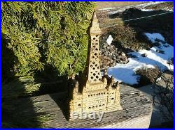 Rare Antique Palace Cast Iron Bank Tower