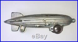 Rare Cast Iron Graf Zeppelin on Wheels Still Bank Pull-Toy Cir 1934 ORIGINAL