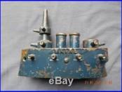 Rare Large Grey Iron MAINE Battleship Still Cast Iron Bank Toy