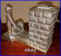 Rare Original 1892 Antique Cast Iron Shepard Hardware Mechanical Artillery Bank