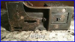Rare Original 1892 Antique Cast Iron Shepard/Stevens Artillery Mechanical Bank