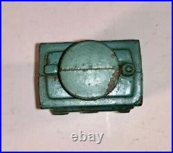 Rare Original Blue Cast Iron GE Still Penny Bank made by Hubley Excellent