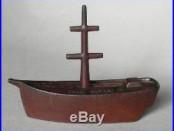 Rare Vintage Antique Cast Iron FORTUNE SHIP Sailing Boat STILL BANK