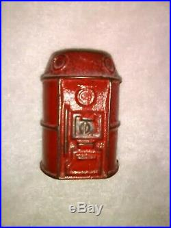Rare cast iron Marshall Michigan furnace advertising still bank 30s original